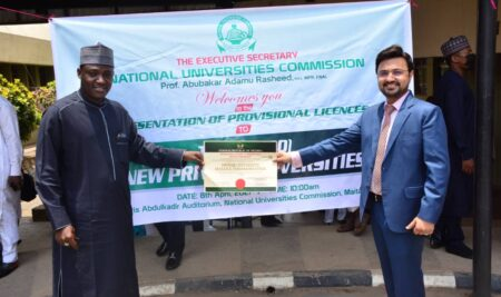 License Accreditation Ceremony by Nigerian Government